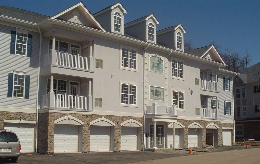 Hardcoat stucco townhouse building - Passaic County