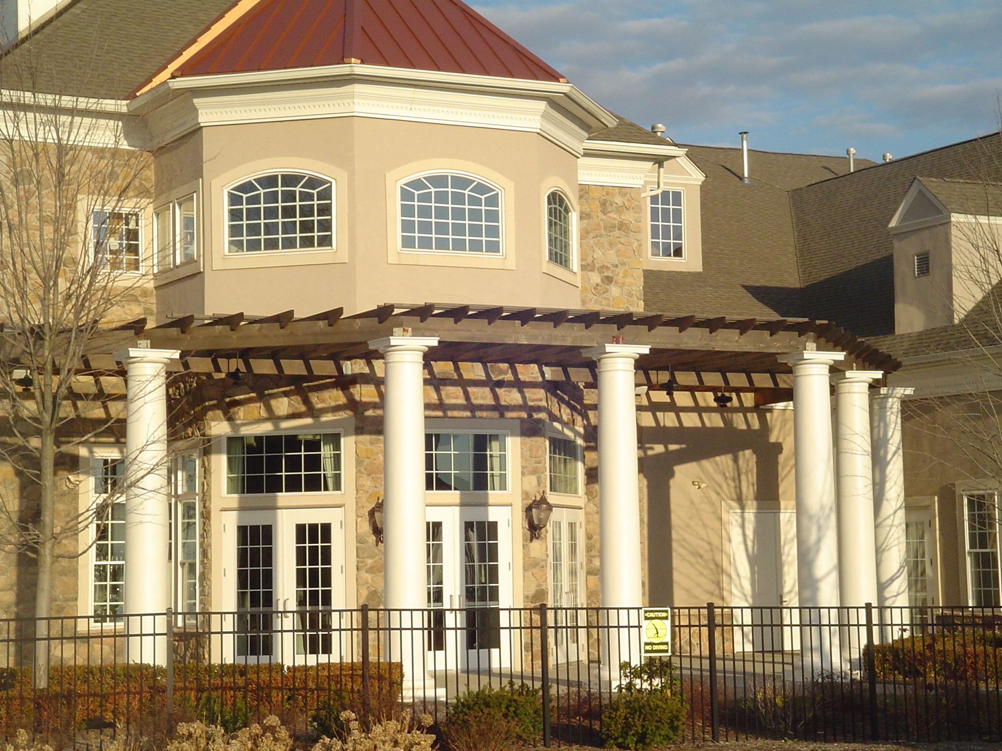 Clubhouse at a Retirement Community - Hardcoat Stucco and Stone