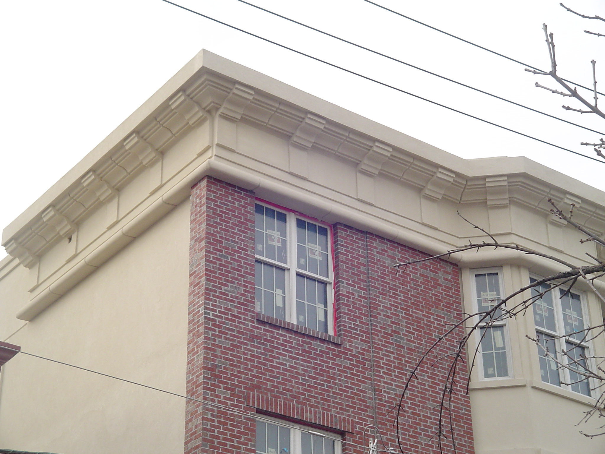 Custom Cornice Trim and Stucco inHudson County