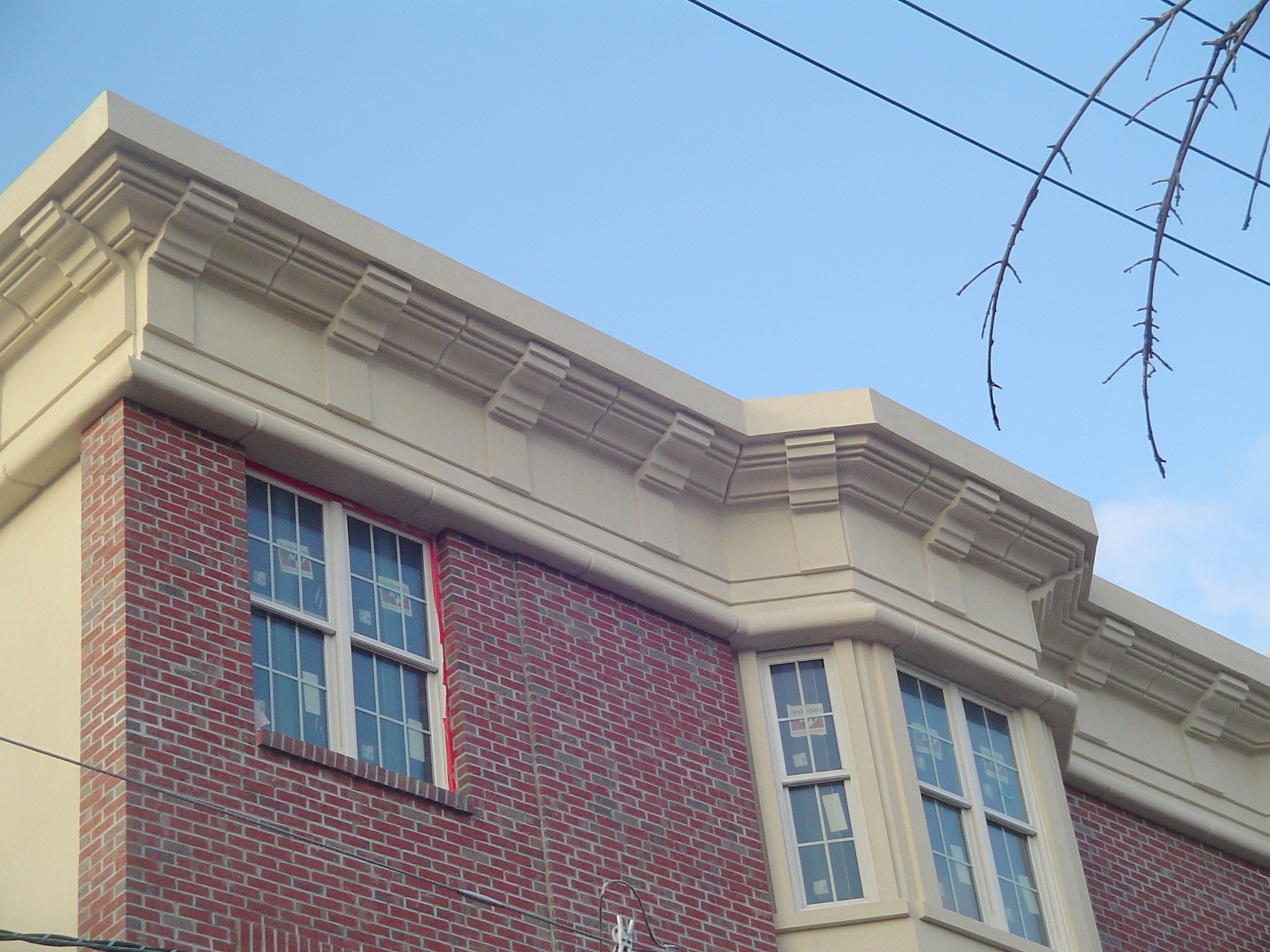 Custom Cornice Trim and Stucco in Hudson County