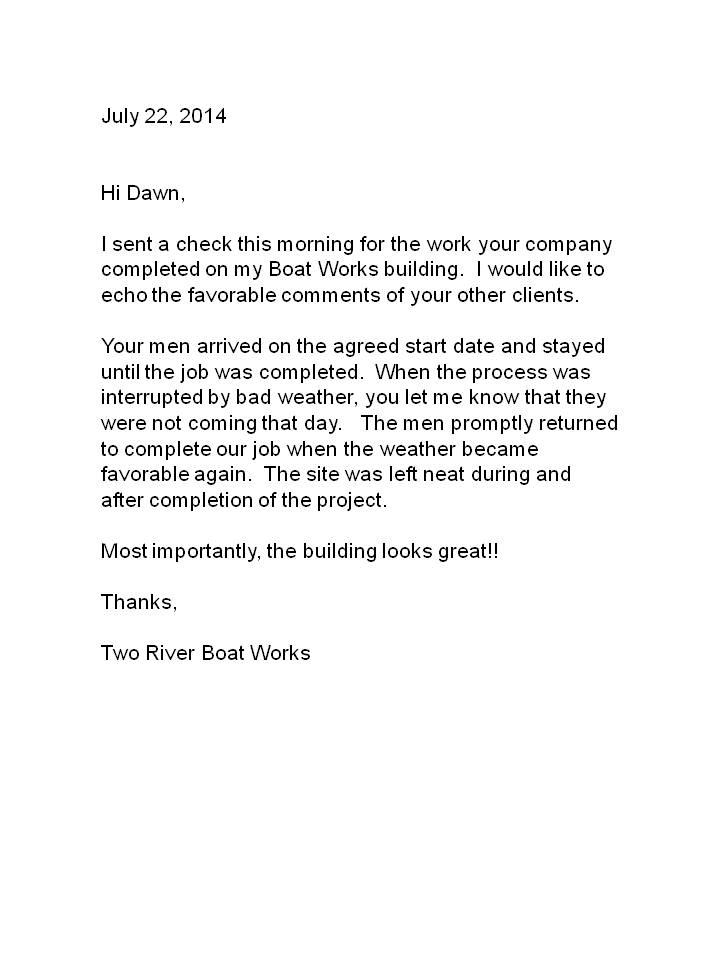 Boatworks - Stucco Letter of Recommendation