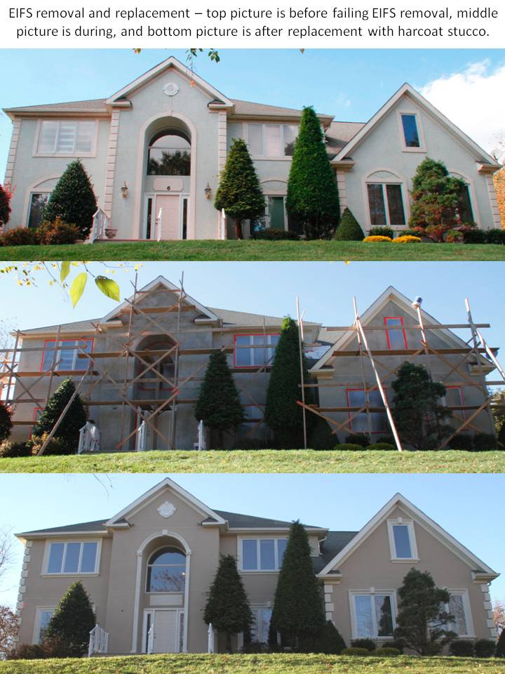EIFS removal and replacement