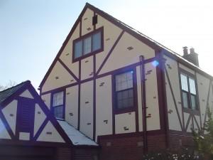 Stucco Tudor Board Facade