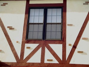 Stucco Tudor Board with Grain