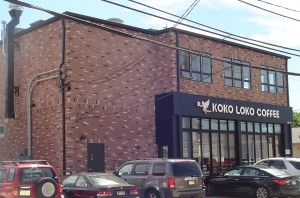 New brickface system on commercial building in Bergen County