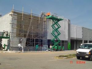 Scissor lift and OSHA compliant scaffolding