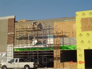 OSHA compliant scaffolding and prep work